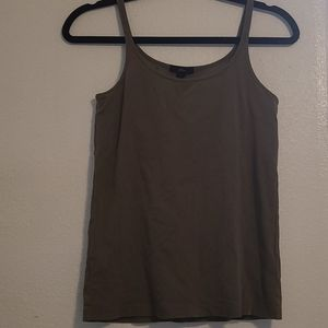 J. Crew Cotton Cami Tank Large Olive Green